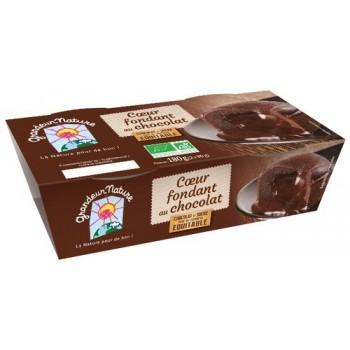 Fondant chocolat coeur x 2...