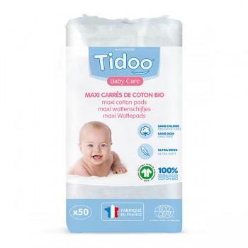 Maxi coton 50 carrés Tidoo