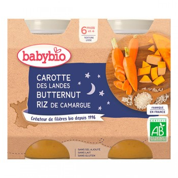 Pots carotte/butternut/riz...