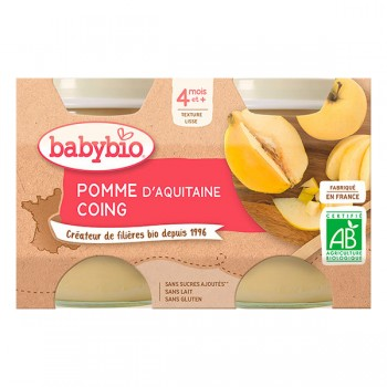 Pots pomme/coing x 2 Babybio