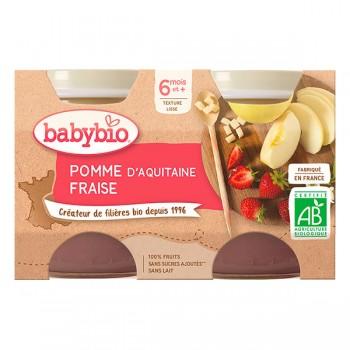 Pots pomme fraise x 2 Babybio