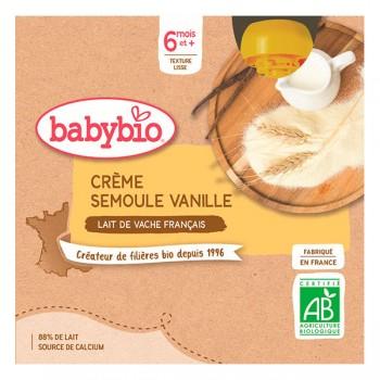 Creme semoule vanille Babybio