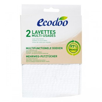 2 lavettes multi usages Ecodoo