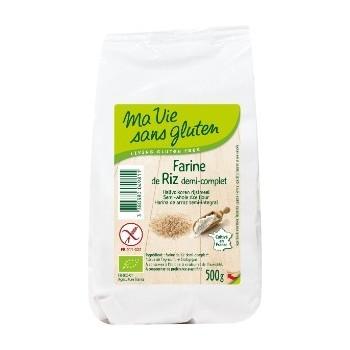 "Farine riz 1/2 cplt 500g""ma..."