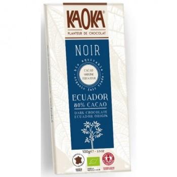 "Choc. noir 80% ecuador ""kaoka"""