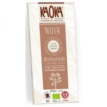 Choc.noir 61% feves cacao...