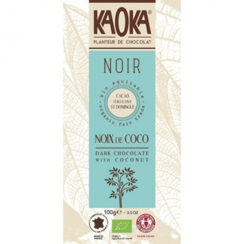 "Choc.noir 55% noix coco""kaoka"""