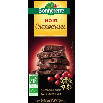 Chocolat noir cranberries...