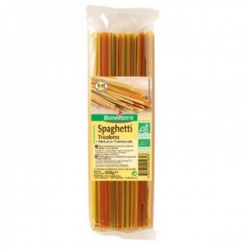 Spaghetti tricolores...