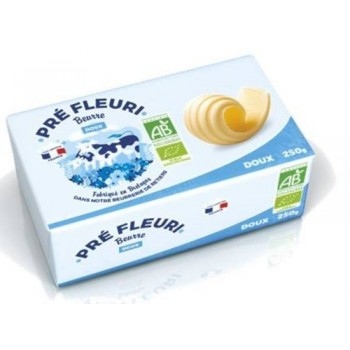 "Beurre doux 250g ""pre fleuri"""